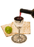 Shabbats wine in the cup Royalty Free Stock Photo