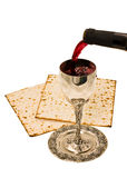 Shabbats wine in the cup. Filling ritual wine cup in the Sabbath Royalty Free Stock Photography