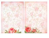 Shabby κομψά υπόβαθρα με τα τριαντάφυλλα Στοκ εικόνες με δικαίωμα ελεύθερης χρήσης