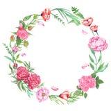 Shabby κομψό Floral στεφάνι Στοκ φωτογραφία με δικαίωμα ελεύθερης χρήσης