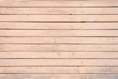 Shabby, χρωματισμένος, παλαιός ξύλινος τοίχος του μπεζ, χρώμα κρέμας στοκ εικόνες