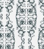 Shabby abstract damask seamless vector victorian pattern wallpapper vector illustration
