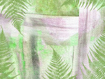 Shabby abstract tropical background with exotic plants and trees Royalty Free Stock Photos