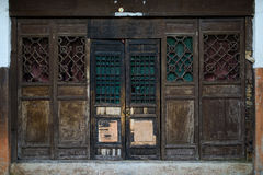 Shabby aged wooden door,China Royalty Free Stock Photography