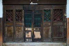 Shabby aged wooden door,China Royalty Free Stock Photography