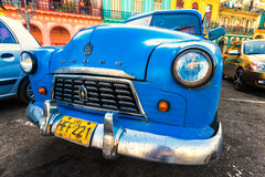 Shabby american car in a colorful Havana Stock Photos