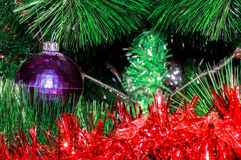 Shabby ball and tinsel Royalty Free Stock Image