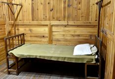 Shabby bed of Maozedong Royalty Free Stock Photo