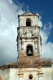 Shabby belltower of a church Royalty Free Stock Image
