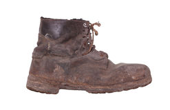 Shabby boot with steel sole Royalty Free Stock Photos