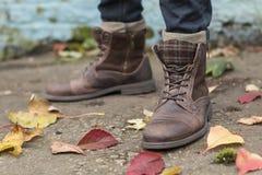 Shabby boots Stock Photo