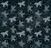 Shabby Butterfly Background. Shabby circles pattern butterfly design dark color background illustration Stock Photos