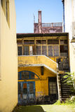 Shabby characterful corner in the centre of Funchal on the Island of Madiera Stock Images