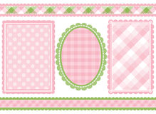 Shabby chic. Set of 5 coordinating shabby chic designs stock illustration