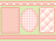 Shabby chic. Set of 5 coordinating shabby chic designs royalty free illustration