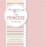 Shabby chic baby girl shower card Royalty Free Stock Photo