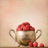Shabby Chic Background with raspberries Royalty Free Stock Image