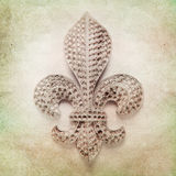 Shabby Chic Background. Vintage background with fleur de lys Stock Photography