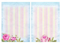 Shabby chic backgrounds with roses. Stock Photos
