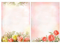 Shabby chic backgrounds with roses. royalty free stock photo