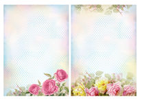 Shabby chic backgrounds with roses. stock images