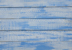 Shabby Chic blue and white wooden background with textured scratches and antique cracked paint Stock Photography