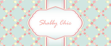 Shabby chic. card design Royalty Free Stock Image