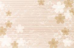 Shabby Chic Cherry blossom background Royalty Free Stock Photo