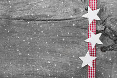 Shabby chic christmas background in grey, white and red for a ch Royalty Free Stock Photos