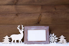 Shabby Chic Christmas Card With Copy Space Stock Photo
