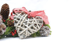 Shabby chic Christmas decorations royalty free stock image