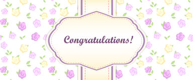 Shabby chic. congratulations card Stock Image