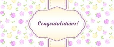 Shabby chic. congratulations card Stock Image