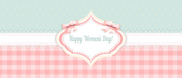 Shabby chic. congratulations card. womens day Stock Photography