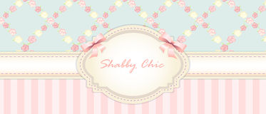Shabby chic. congratulations card. womens day Stock Photos