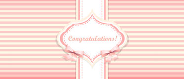 Shabby chic. congratulations card. womens day Stock Photo
