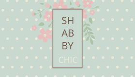 Shabby chic. Elegant vintage background peas and frame flowers. Royalty Free Stock Photos