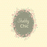 Shabby chic. Elegant vintage background peas and frame flowers. Stock Photos