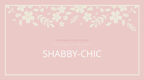 Shabby chic. Elegant vintage background peas and frame flowers. Stock Images