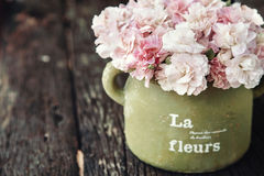 Shabby chic flowers Stock Photo