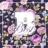 Shabby Chic Flowers Graphic Design Stock Photo