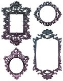 Shabby Chic Frames. Four ornate, detailed Victorian style frames with blue to pink fades Stock Image