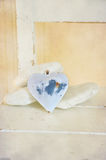 Shabby chic heart Stock Image
