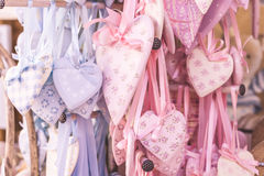 Shabby chic hearts Stock Image