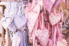 Shabby chic hearts Stock Image