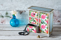 Shabby Chic Jewellery Drawers Royalty Free Stock Photo