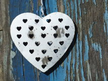 Grungy Metal Heart Royalty Free Stock Photography