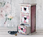 A shabby chic mini chest of drawers Stock Photography