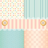 Shabby chic. Pastel patterns and seamless backgrounds. Ideal for printing onto fabric and paper or scrap booking vector illustration