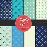 Shabby Chic Pattern Collection - Azura Stock Images